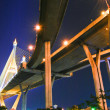 Stock Photo: Industrial Ring Road Bridge over night sky scene