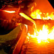 Stock Photo: Metal casting process