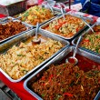 Stock Photo: Variety of thai food in market
