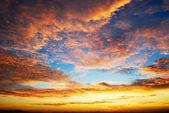 Beautiful twilight sunrise sky — Stock Photo