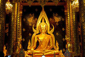Golden Buddha Statue in Thailand — Stock Photo