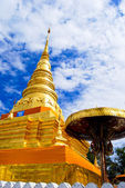 Golden Pagoda in Buddha temple — Stock Photo
