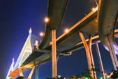 The Industrial Ring Road Bridge over the night sky scene — Stock Photo