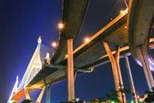 The Industrial Ring Road Bridge over the night sky scene — Stock Photo