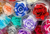 Colorful fake rose flower — Stock Photo