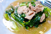 Asian style noodle with pork — Stock Photo