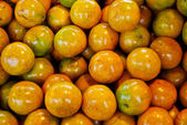 Fresh orange in market — Stock Photo