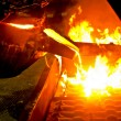 Metal casting process - Stock Photo