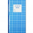 Blue plaid account book isolated — Stock Photo