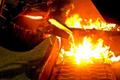 Metal casting process — Stock Photo