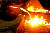 Metal casting process — Stock Photo