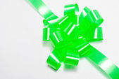 Green shiny ribbon isolated — Стоковое фото