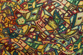Colorful vintage pattern of old fabric — Stock Photo