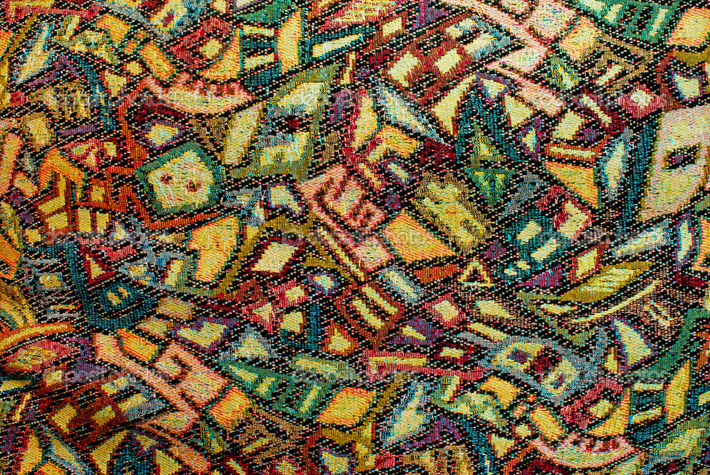 Colorful vintage pattern of old fabric — Stock Photo ...