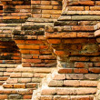 Step of the brick wall decoration — Stock Photo