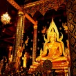 Golden statue , Image of Buddha in Temple — Stock Photo #4935856