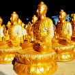 Many of Golden BuddhStatue — Stock Photo #4936455