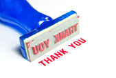 Thank you blue rubber stamp — Stock Photo