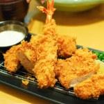 Fried shrimp and pork tempura japanese food — Stock Photo #5252798
