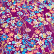 Batik fabric with oriental pattern background — Stock Photo