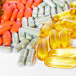 Colorful vitamin and medicine pills — Stock Photo