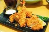 Fried shrimp and pork tempura japanese food — Stock Photo
