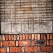 Stock Photo: Newly built brick wall and Board