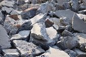 Chiseling cement pavement — Stock Photo