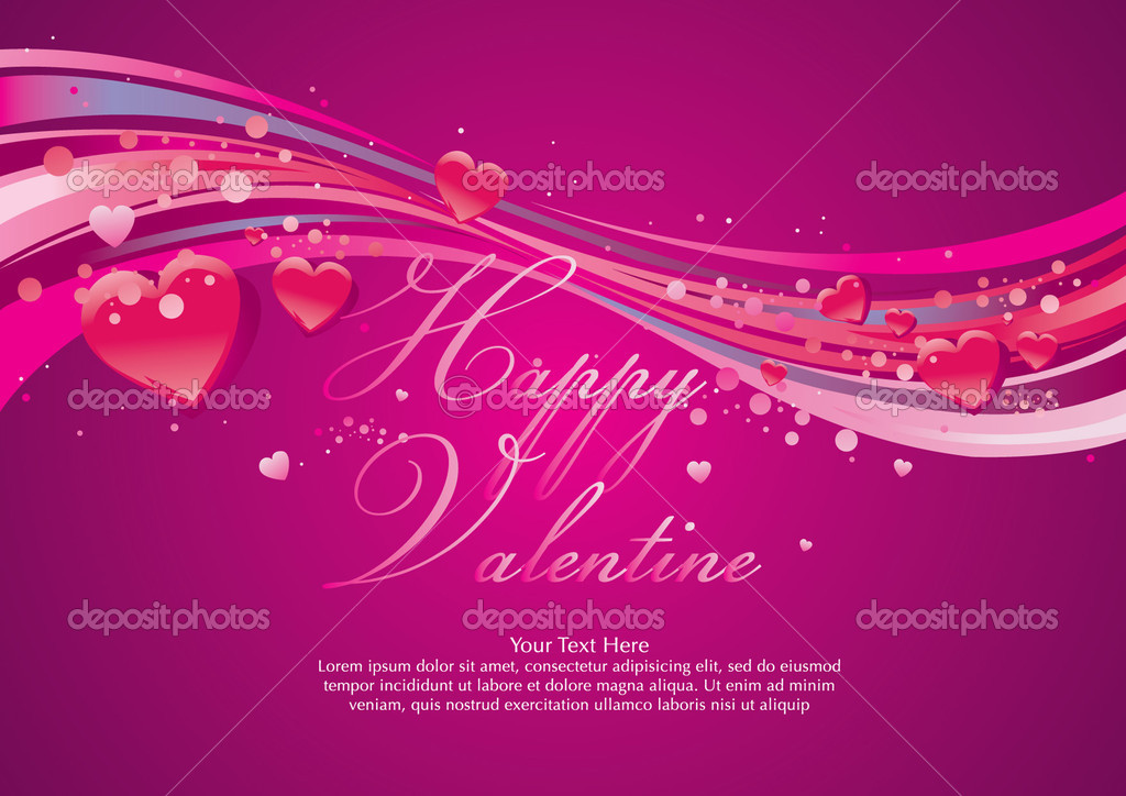 Valentine greeting card  Stockvectorbeeld #3949771