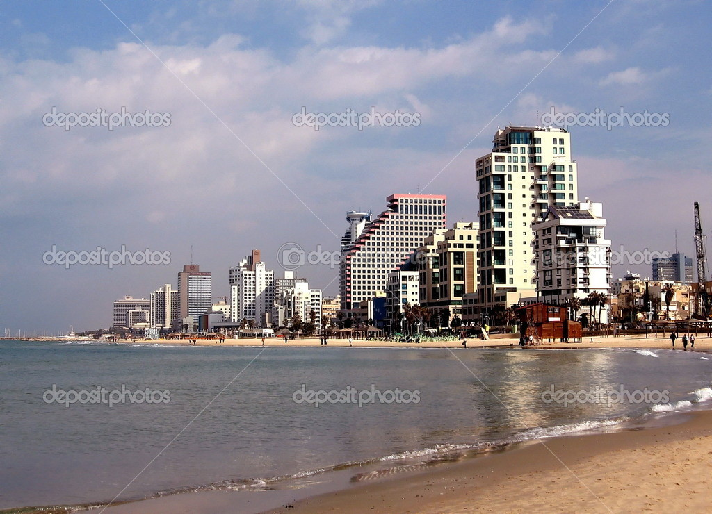 Sea-front of Tel Aviv in Israel  Stock Photo #4054088