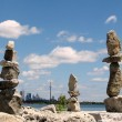 Toronto Lake Three stone statue 2008 — Stock Photo #4074397