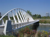 Toronto Lake Bridge in Humber Bay Park 2004 — Stock Photo