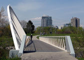 Toronto Lake Bridge in Humber Bay Park 2008 — Stock Photo