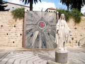 Nazareth Basilica Sculpture of Madonna 2010 — Stock Photo