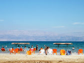 Ein Gedi Dead Sea beach 2010 — Stock Photo