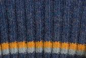 Maglione maglia blu trama — Foto Stock