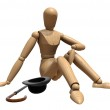 Posing wooden manikin — Stock Photo #3951793