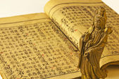 Chinese antique book of Confucius — Stock Photo
