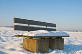 Park bench in winter — Stock Photo