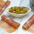Ham of Spain Jamon Serrrano — Stock Photo