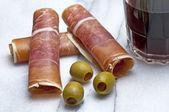 Ham of Spain Jamon Serrrano — Stock Photo