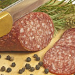 Salami of deer — Stock Photo