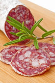 Salami long keyword — Stock Photo