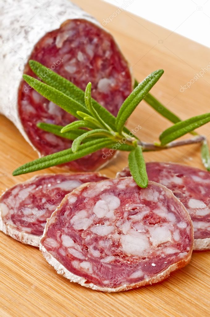 Airdried french salami  Stock Photo #5349733