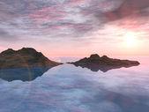 спокойные воды — Стоковое фото