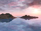 Puesta del sol cañón rojo — Stok fotoğraf