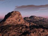 Západ slunce červené kaňonem — Stock fotografie