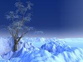 снежное сцена — Стоковое фото