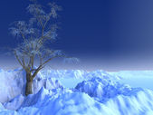 雪のシーン — ストック写真