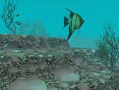 Cena subaquática — Foto Stock
